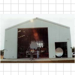 Microstar's custom-built antenna test building.